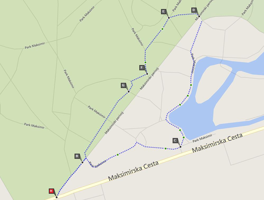 Maksimir staza 1km