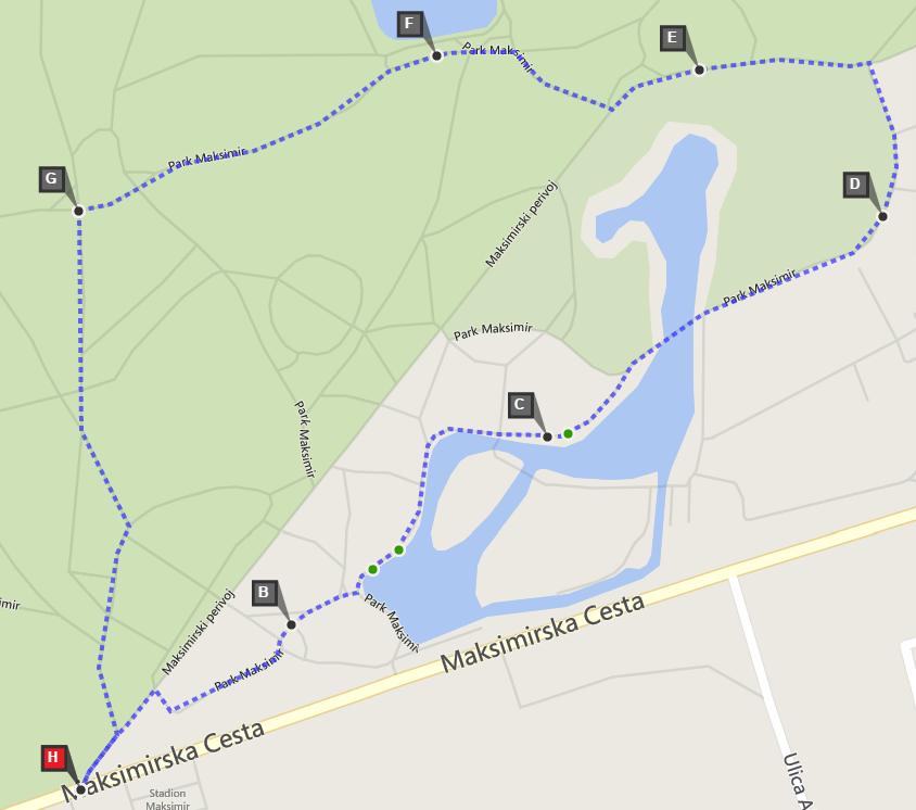 Maksimir staza 2km