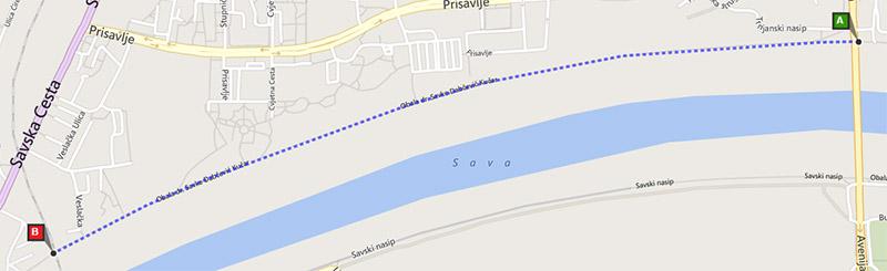Savski nasip - 2 km