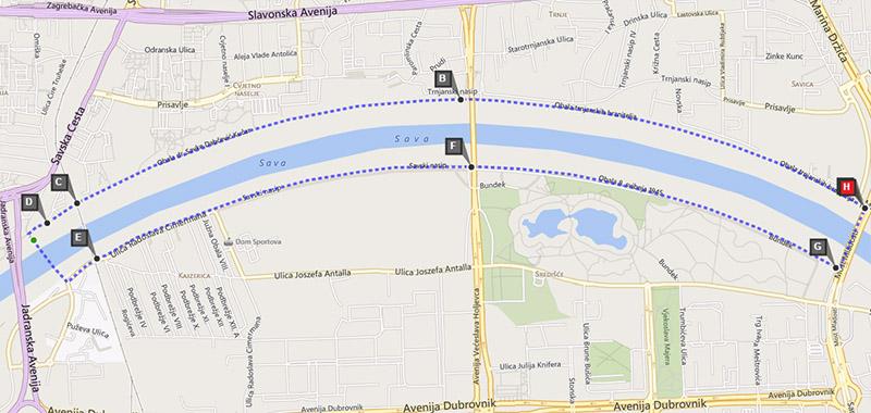 Savski nasip - krug 8.6 km