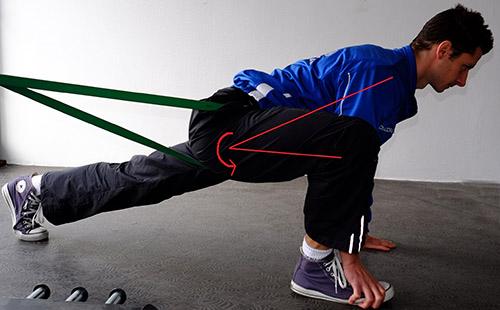 statičko istezanje: fleksija kuka s vanjskom rotacijom