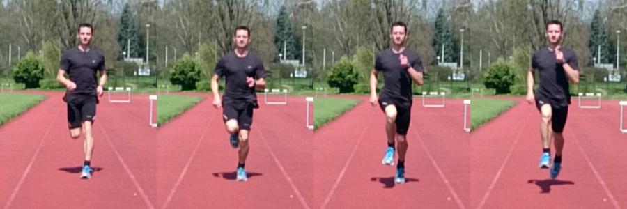 tehnika trčanja frontalno